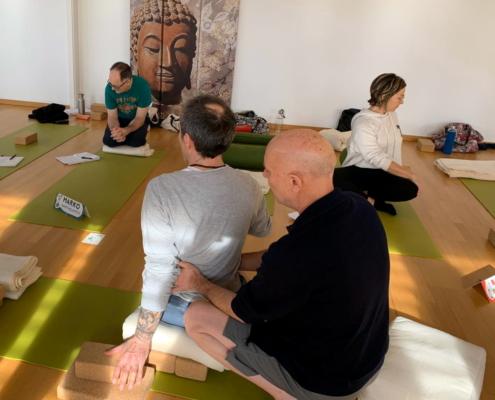 Ayur Yogatherapie - den richten Dreh finden - gesunde spiraldynamisch ausgerichtet Rotationen